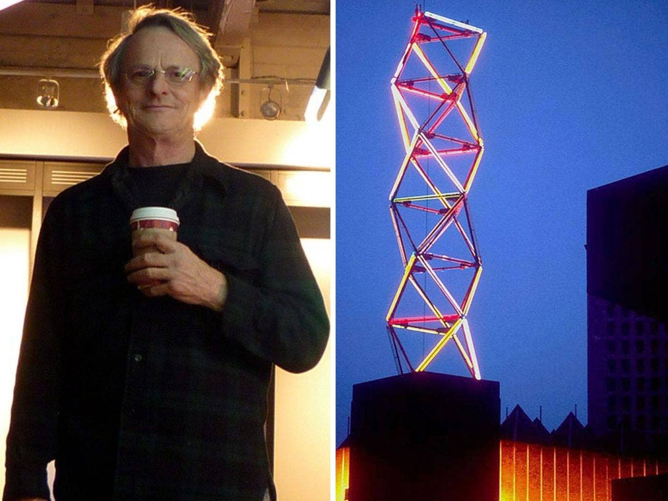 Philip Vaughan has accused the Hayward gallery's executives of going back on plans to restore his Neon Tower work, right