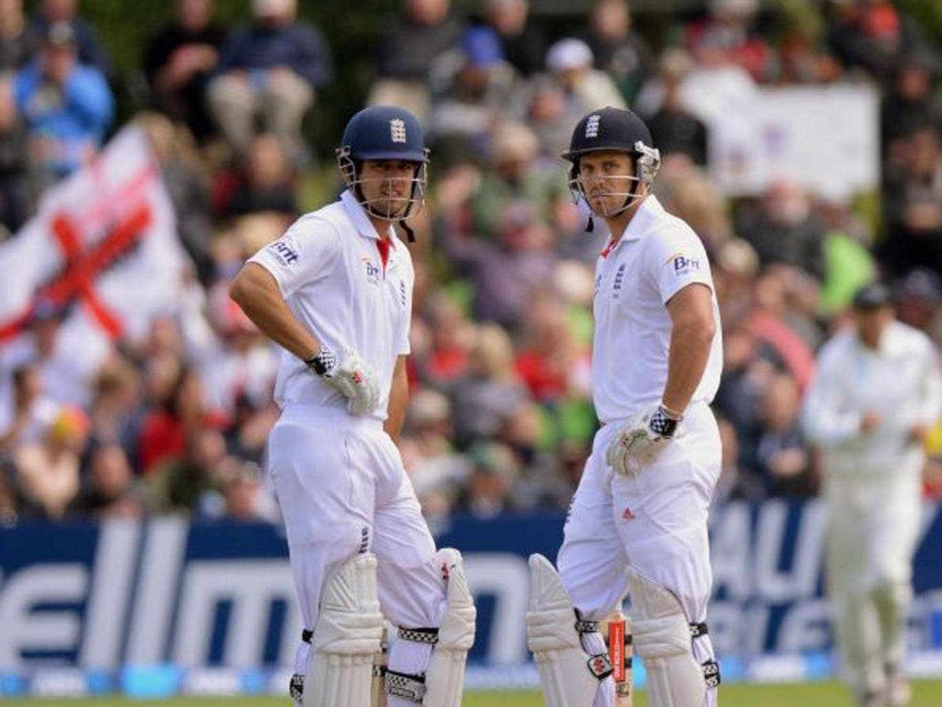 Alastair Cook (left) and Nick Compton average 75.5 as a pair when opening the batting for England