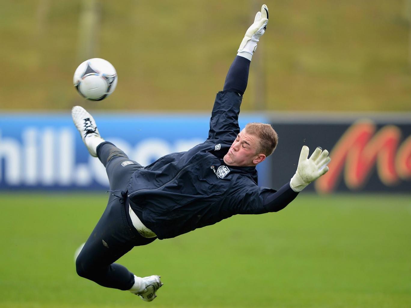 Joe Hart in training with England