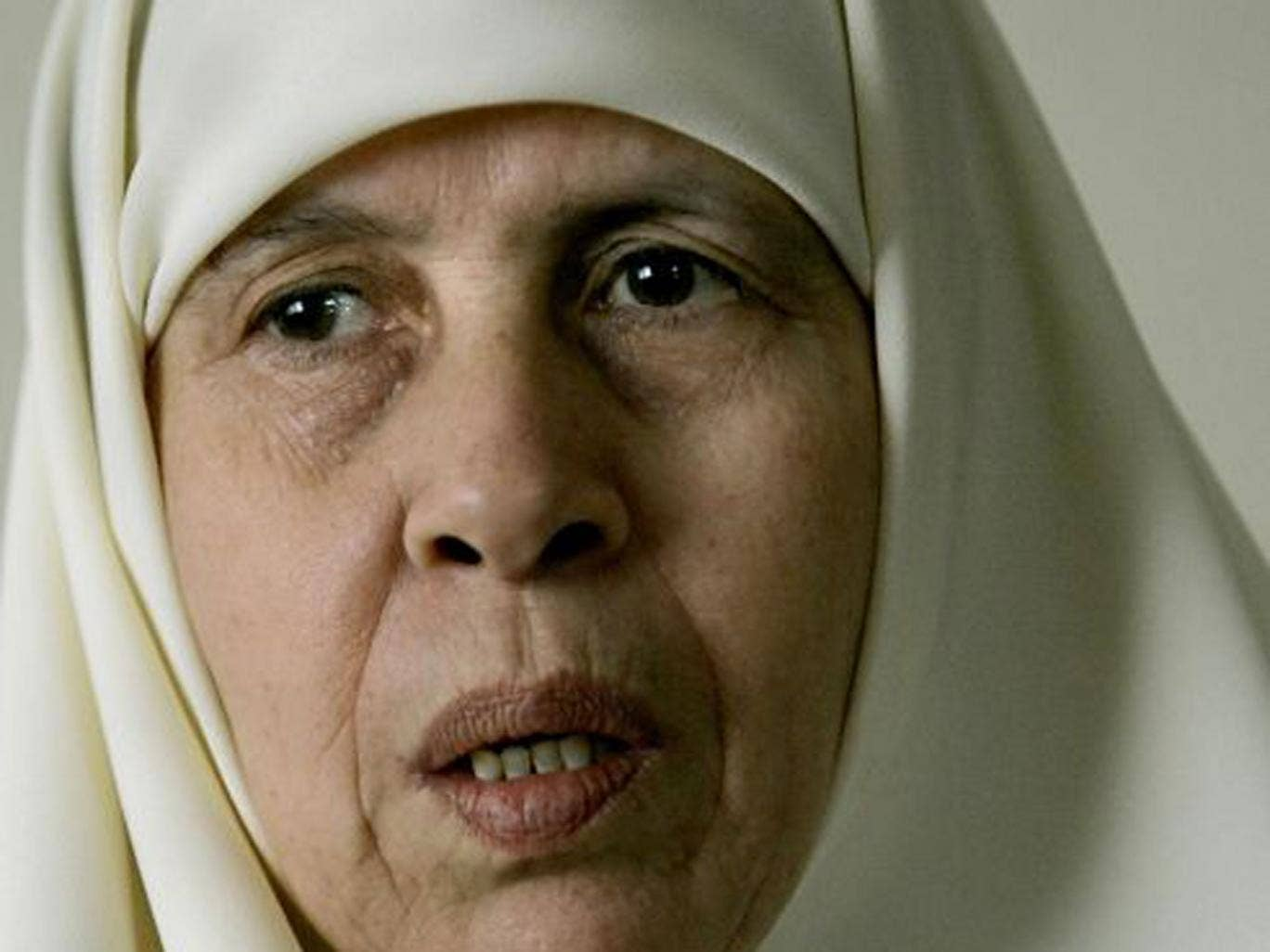 """Marian Farhat, who died on 17 March aged 64, was a Palestinian lawmaker known as """"the mother of martyrs"""""""