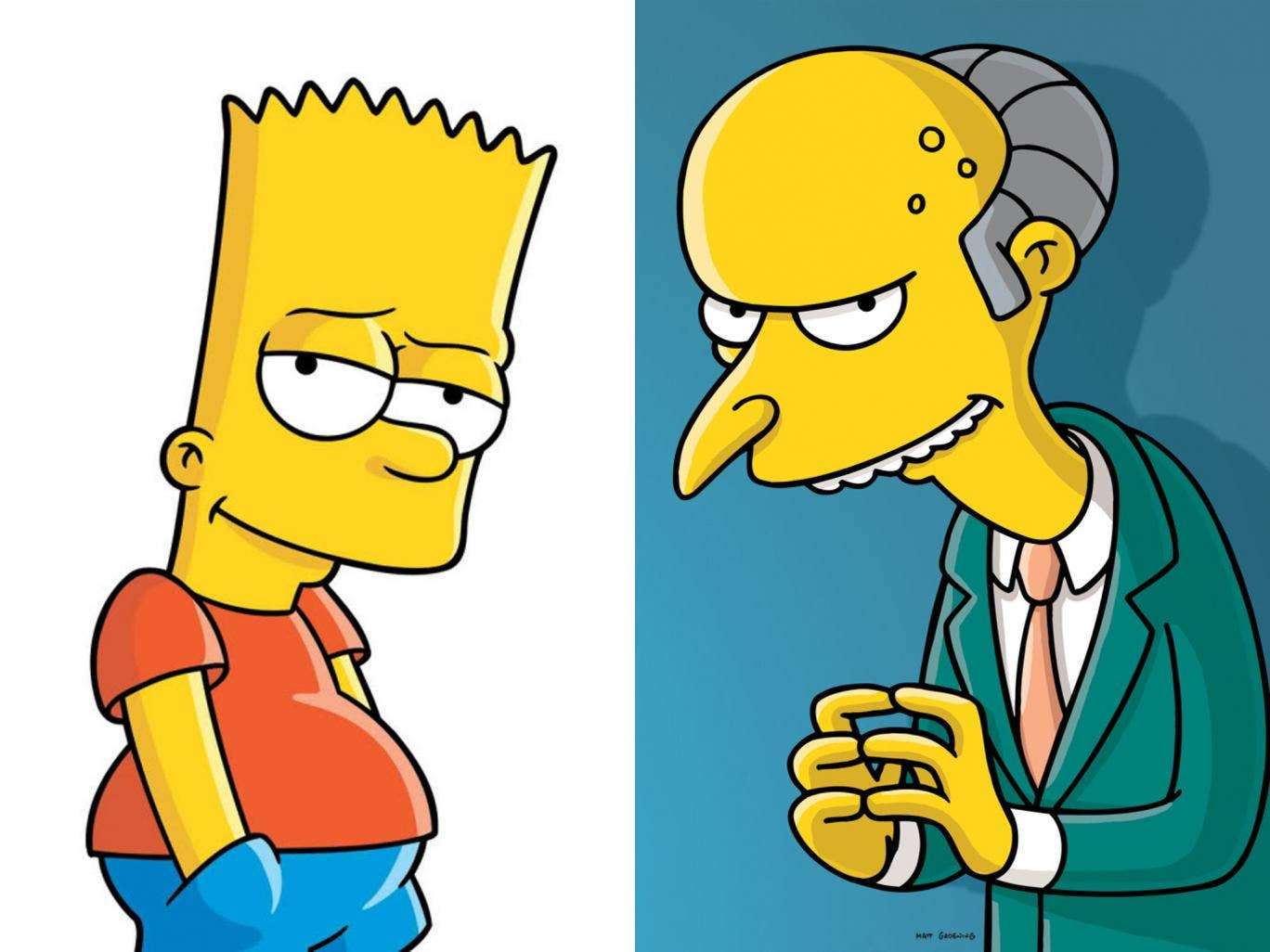 Not the defendant and judge, but their fictional namesakes: Bart Simpson and Mr Burns from The Simpsons