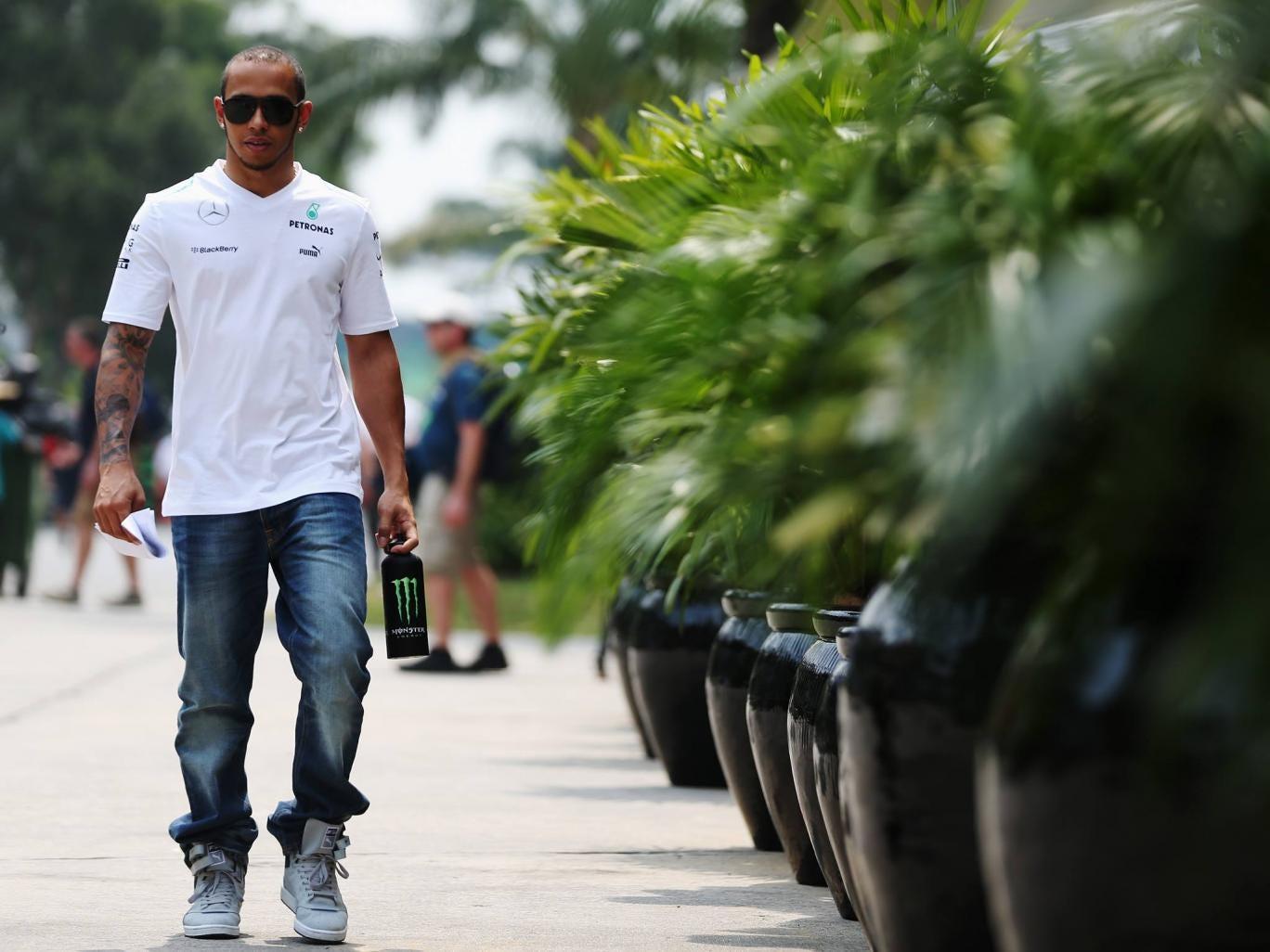Lewis Hamilton in Malaysia