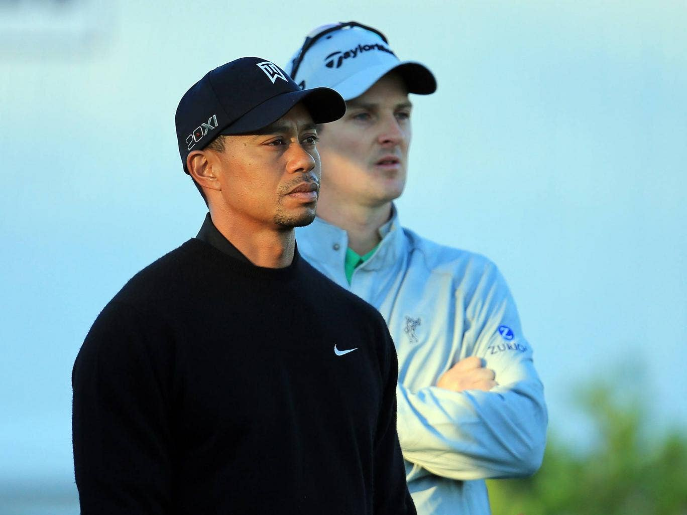Tiger Woods alongside Justin Rose at Bay Hill