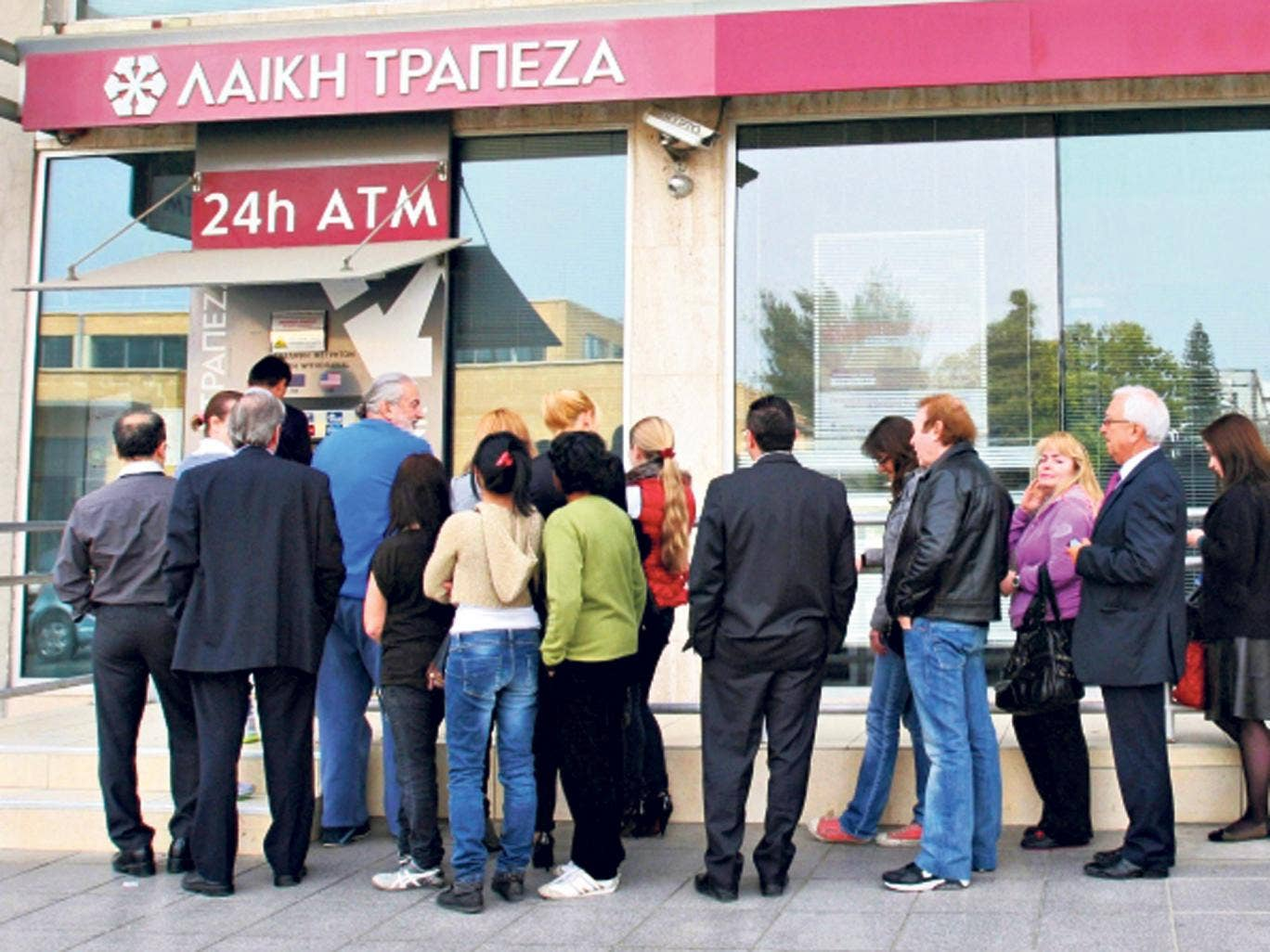 Panic: Cypriots rushed to take out their cash