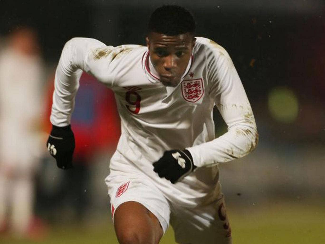 Wilfried Zaha scored his first goal for England Under-21
