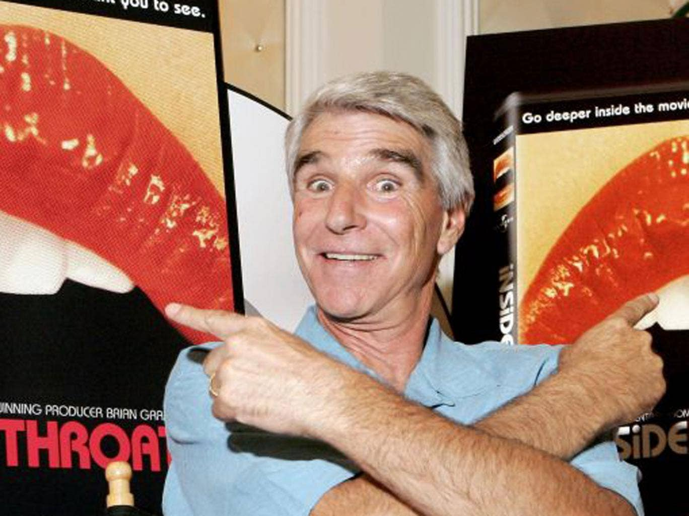 Reems at the launch in 2005 of the documentary about the film that made him notorious