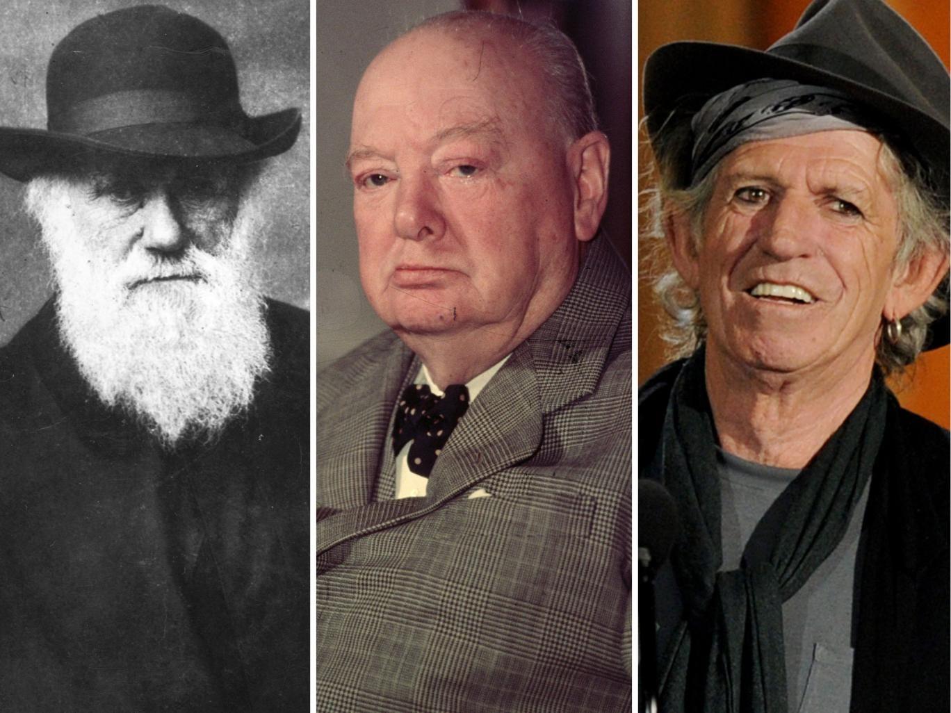 Night owls: Charles Darwin, Winston Churchill and Keith Richards