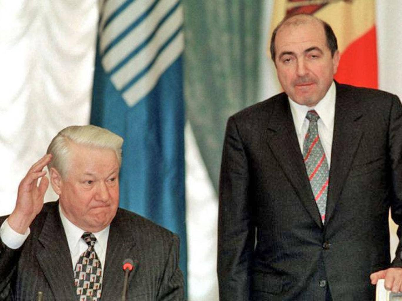 Boris Berezovsky rose to prominence as a key ally of former Russian President Boris Yeltsin, pictured together here in 1998