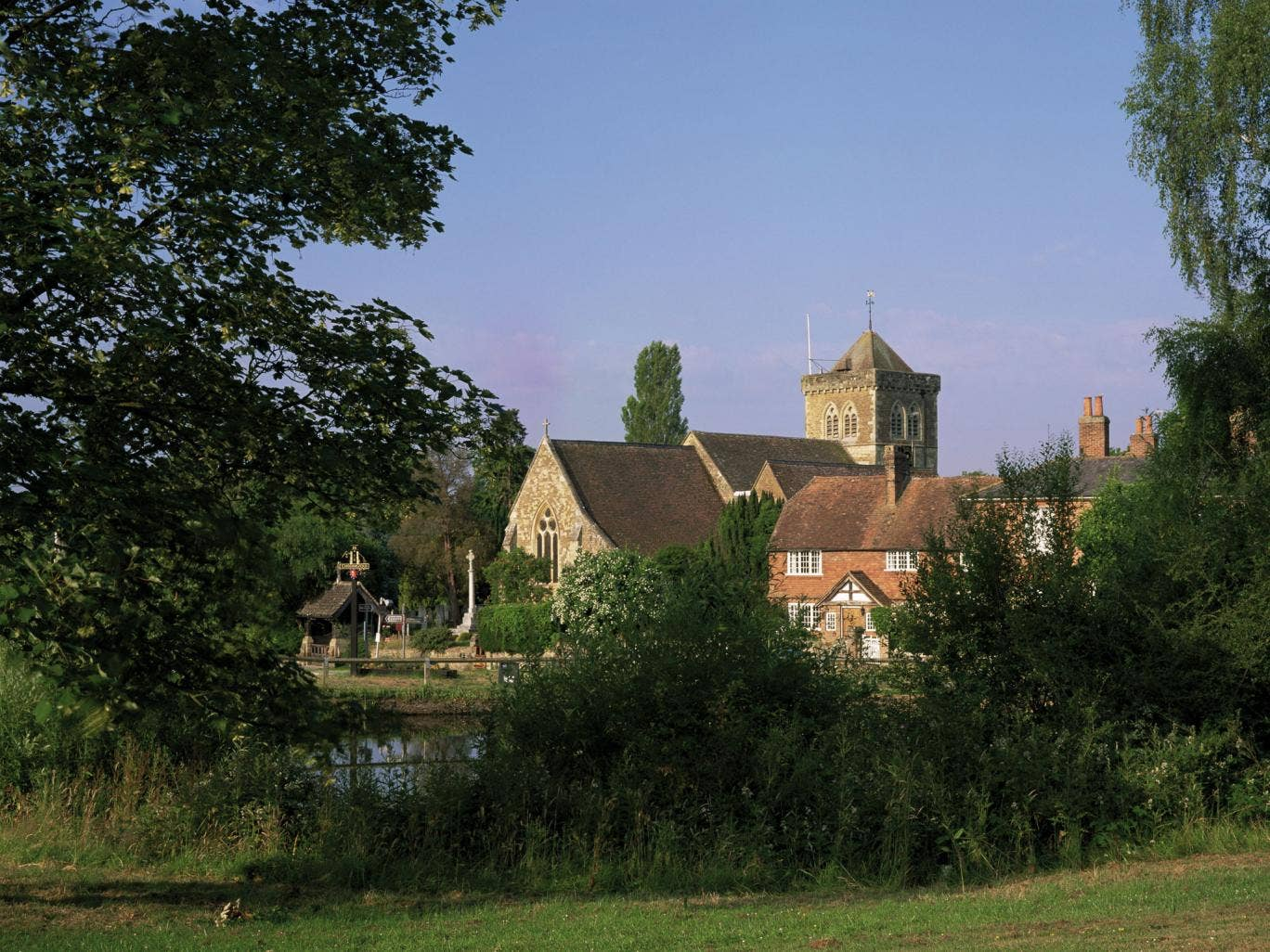 Waverley residents – such as those in Chiddingfold, pictured – experience the highest living standards in rural Britain, according to a study