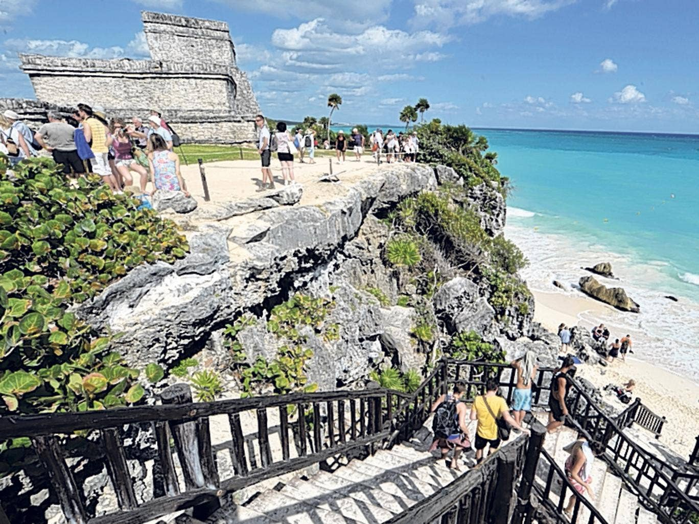Cliff note: Tulum's Mayan ruins above the beach