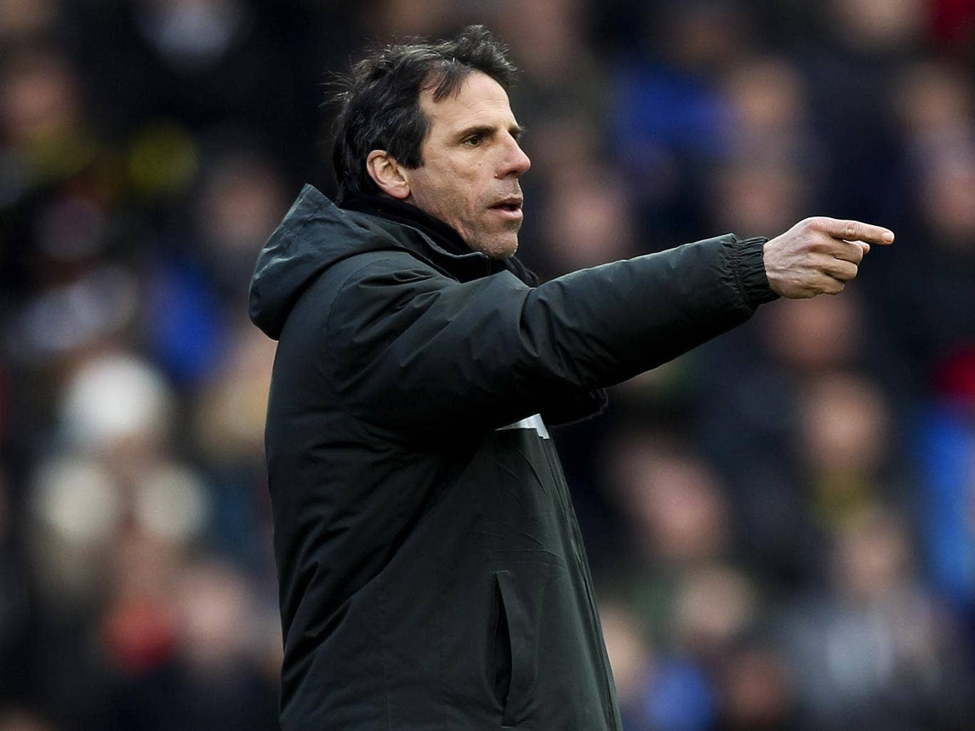 'I didn't see it coming,' admitted Gianfranco Zola of the equaliser