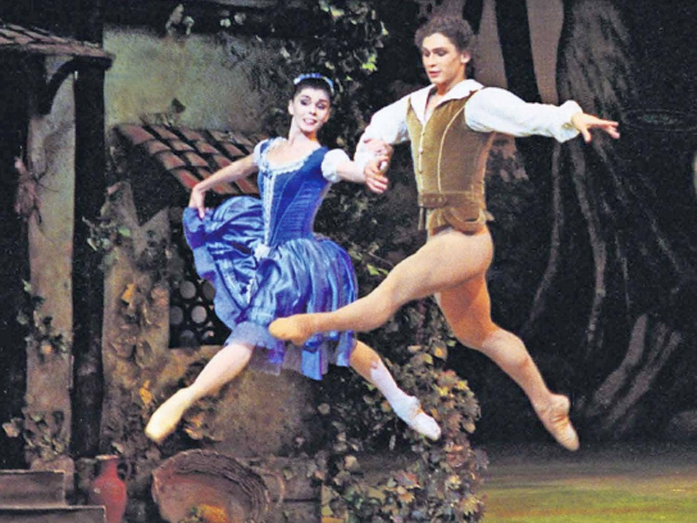 Aerial display: Natalia Osipova and Ivan Vasiliev in Giselle seem almost to fly