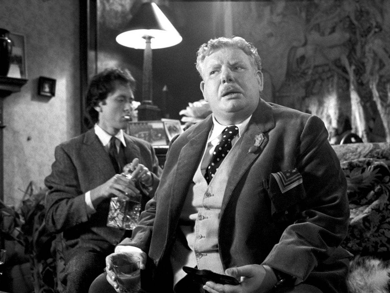 Richard Griffiths in Withnail and I alongside Richard E Grant (1987)