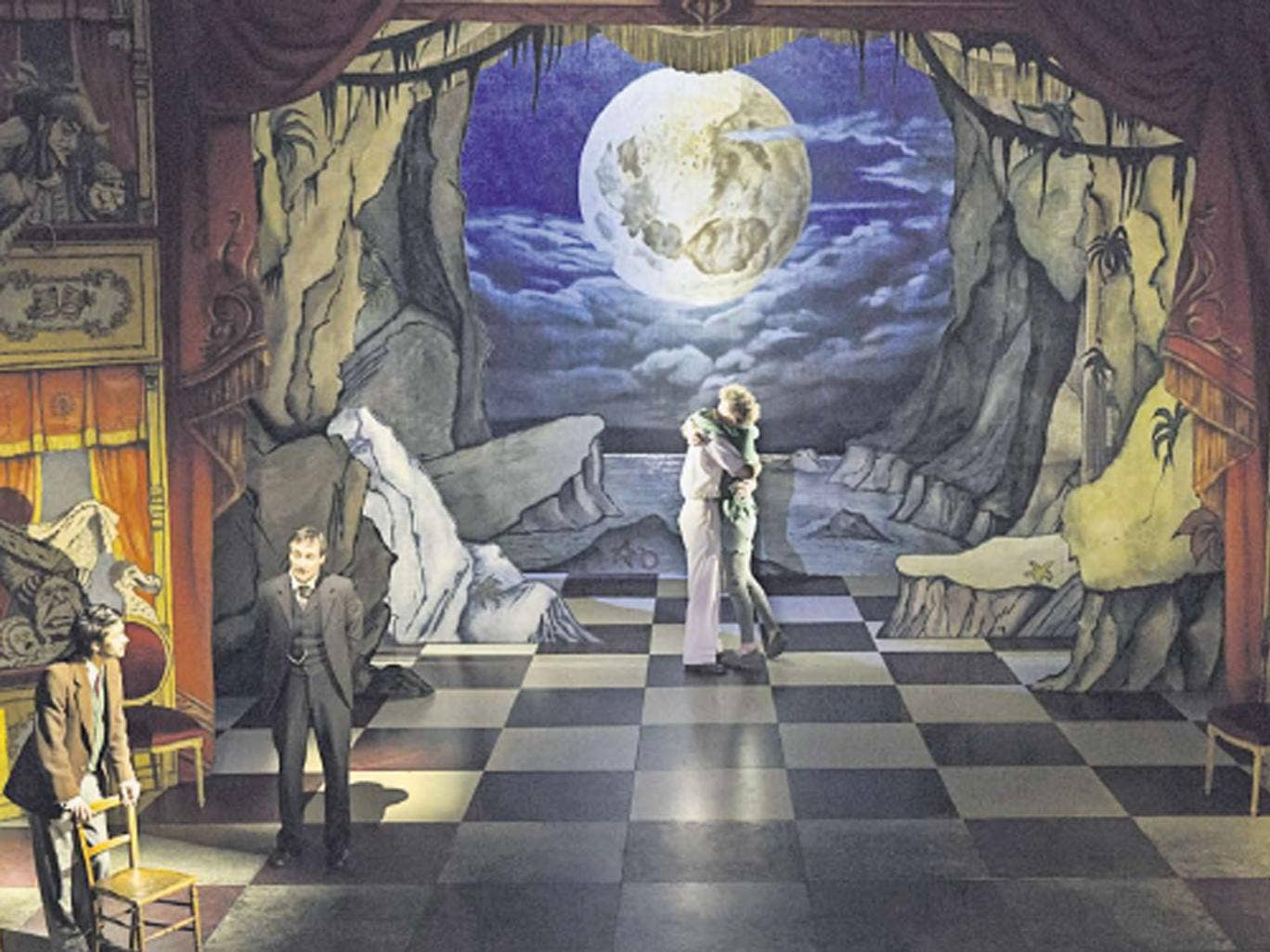 Christopher Oram's spectacular set enriches Peter and Alice