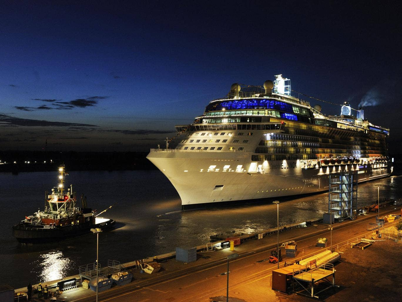 The cruise ship 'Celebrity Equinox' run by the US-Norwegian shipping company Celebrity Cruises
