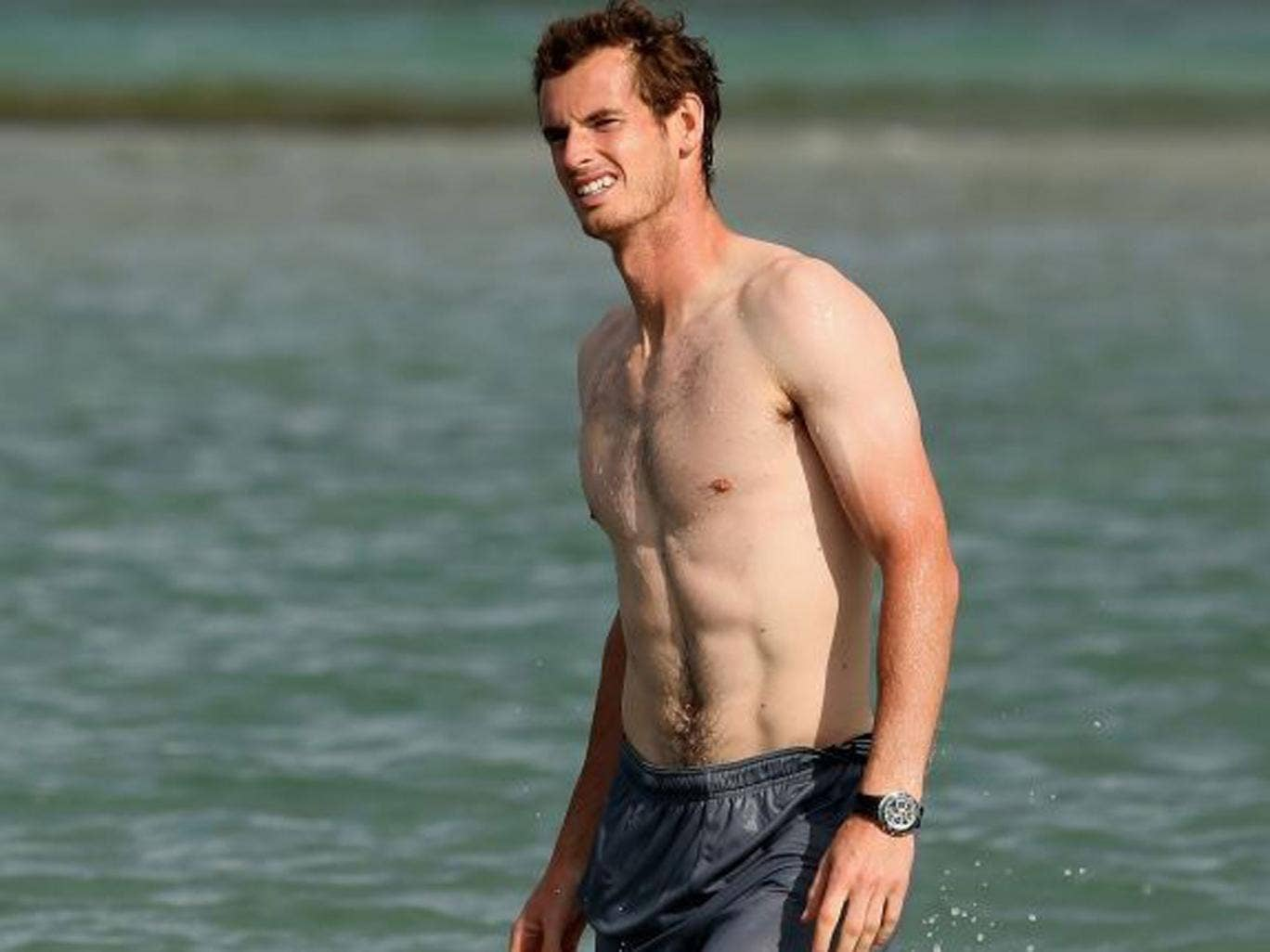 Andy Murray, now second in the world, has go the 'farmers' tan'