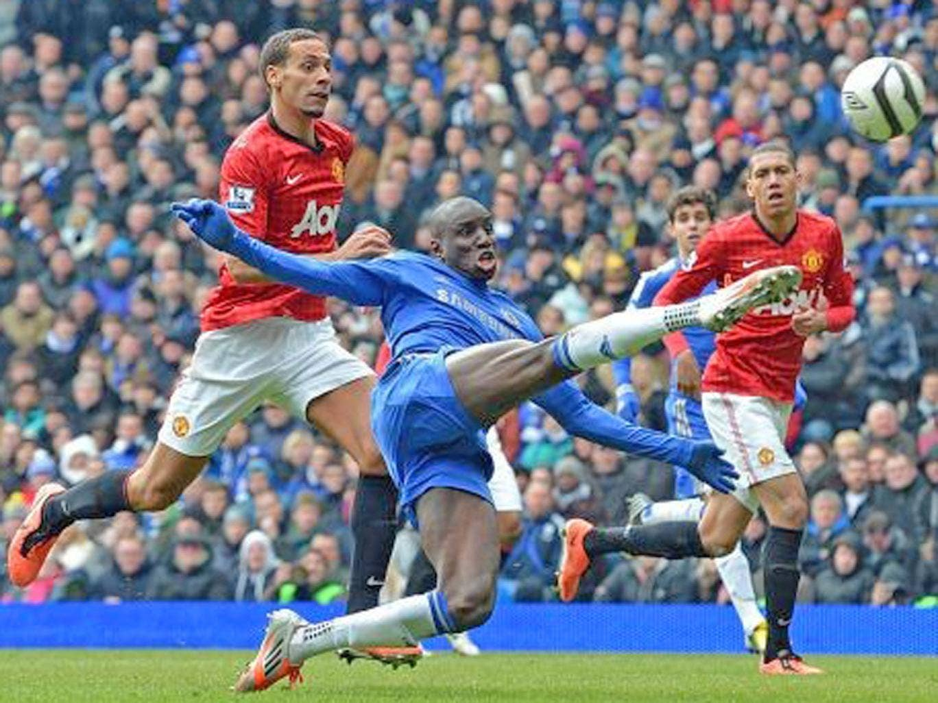 Chelsea's Demba Ba clinches his side's 1-0 FA Cup victory over United