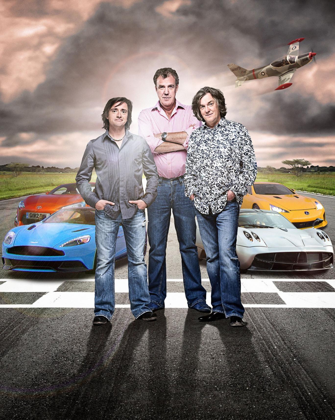 Top Gear presenters Richard Hammond, Jeremy Clarkson, James May