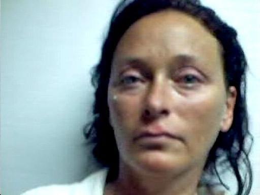 Tonya Bundick after her arrest yesterday