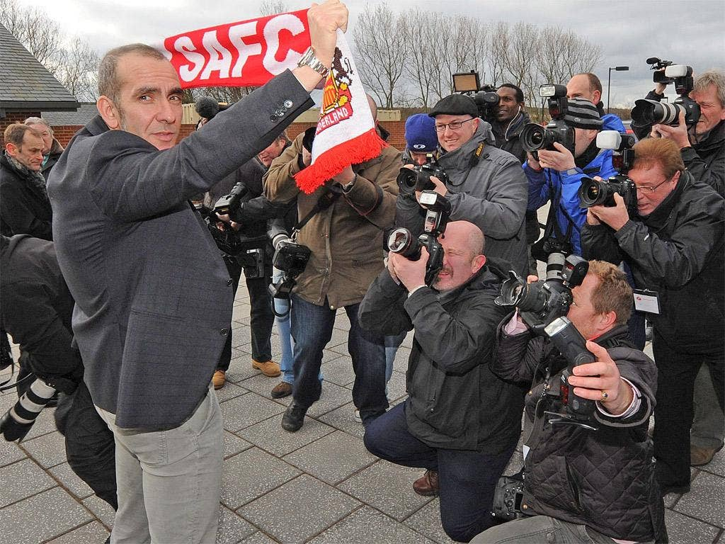 Sunderland manager Paolo Di Canio is unveiled to the media