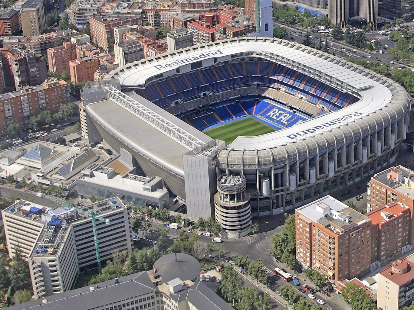 The Santiago Bernabeu stadium, home of Real Madrid