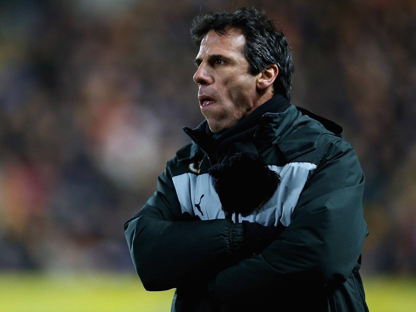 Watford manager Gianfranco Zola