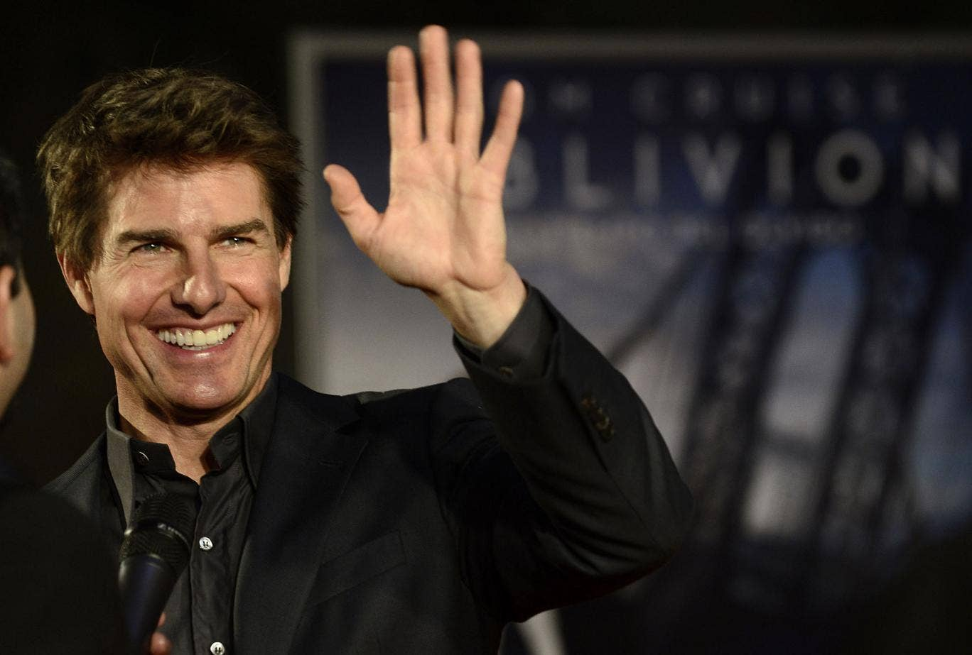 Tom Cruise promotes his new film Oblivion