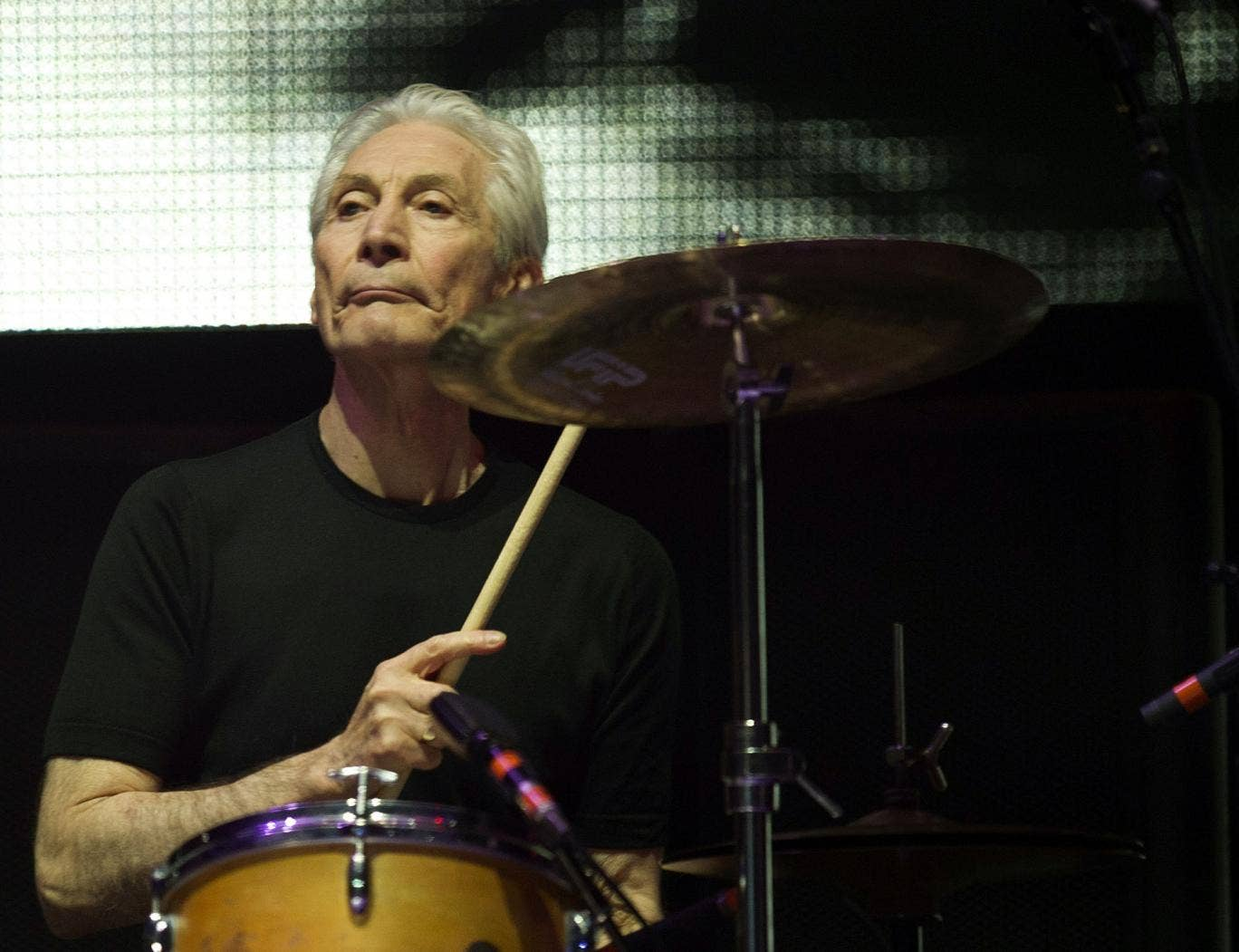 Charlie Watts of the Rolling Stones isn't keen on playing Glastonbury because of the wind