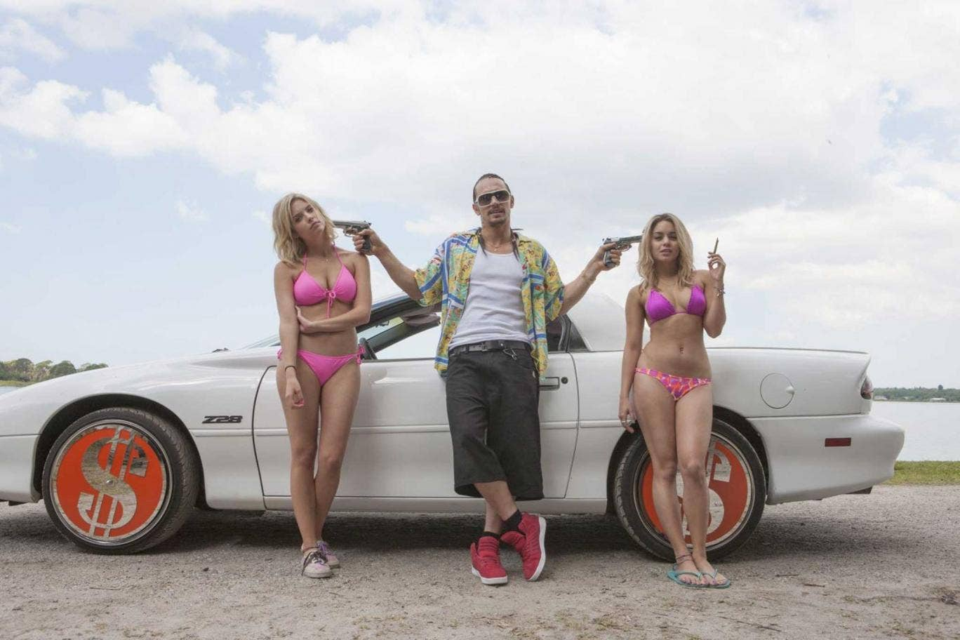 Nothing but a good time: James Franco stars in Harmony Korine's exhilarating 'Spring Breakers'