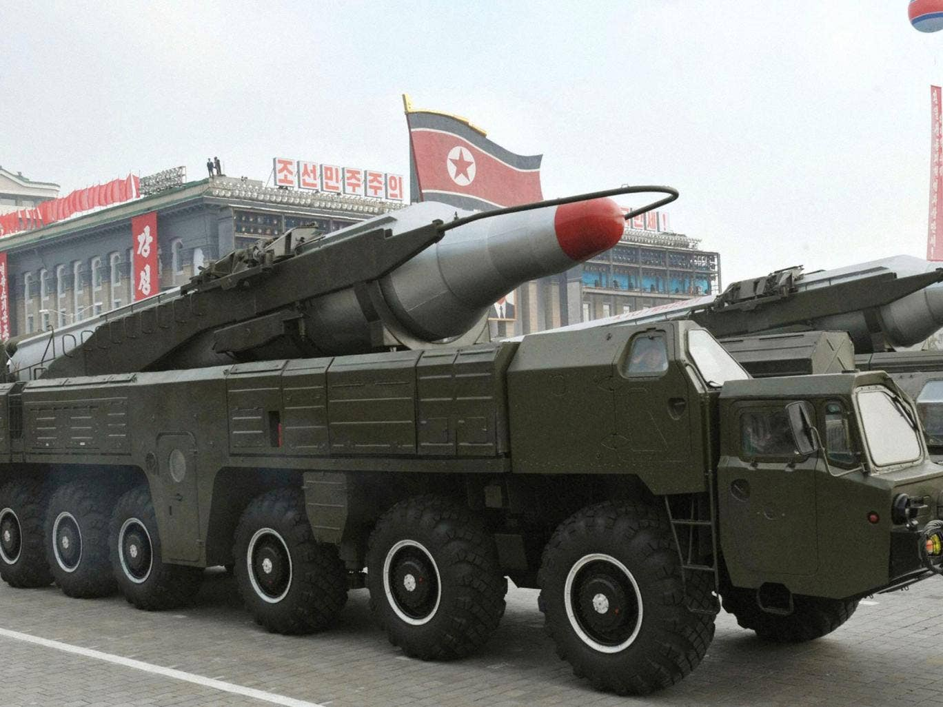 North Korea's military strength is paraded in Pyongyang