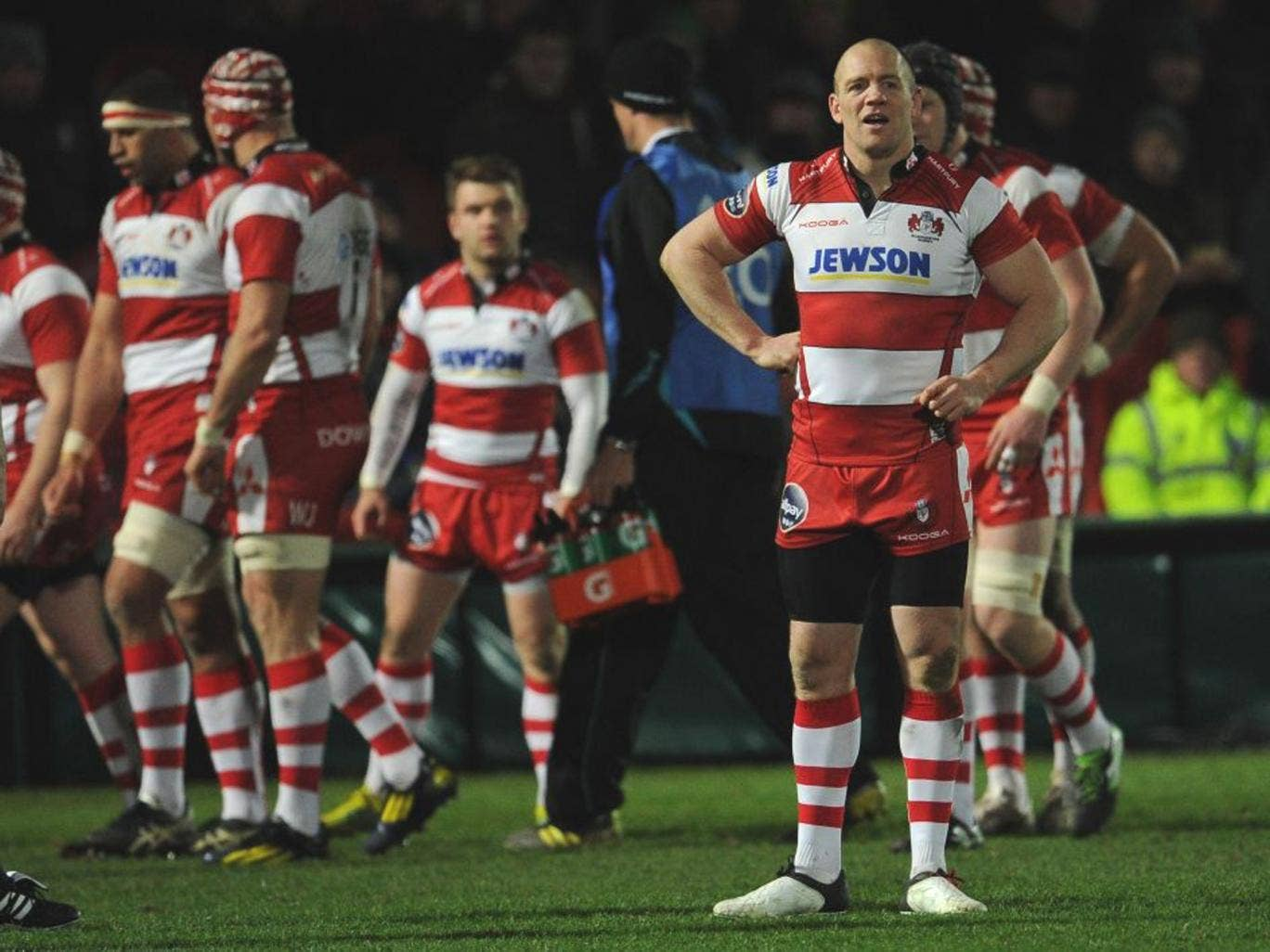 Mike Tindall ended up dejected despite scoring an early try