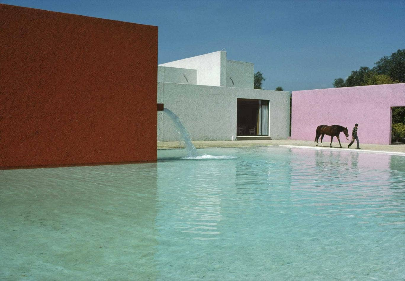 This 1976 shot of Mexico's San Cristobal stables has a formalist beauty to match anything in two shades