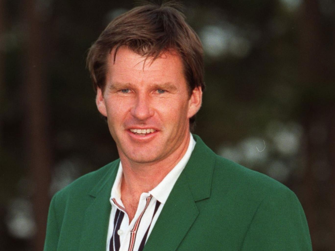 Way back when: Nick Faldo sports the green jacket in 1996