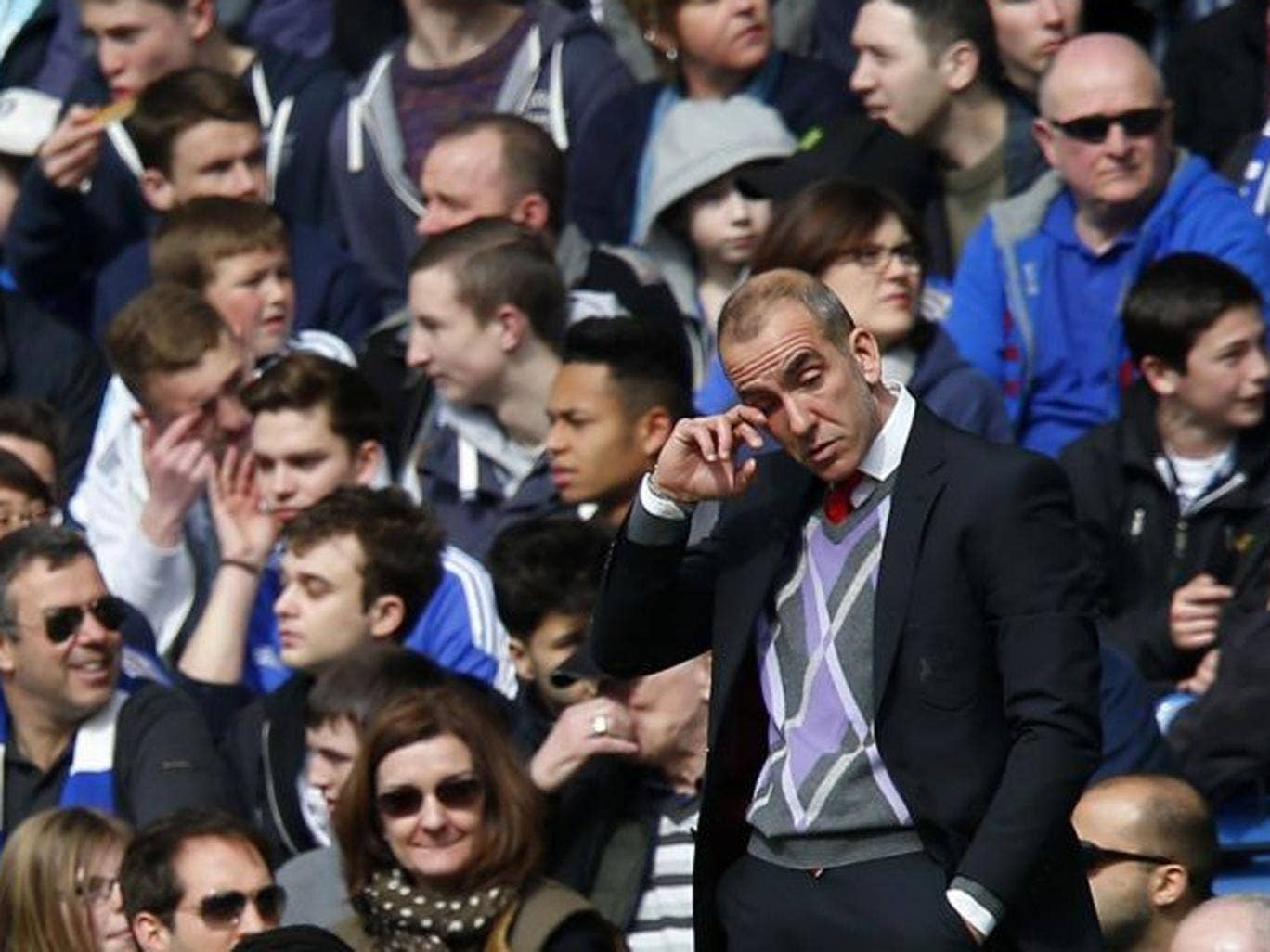 Sunderland's new manager Paolo di Canio during his first match English Premiere League match in charge against Chelsea at Stamford Bridge