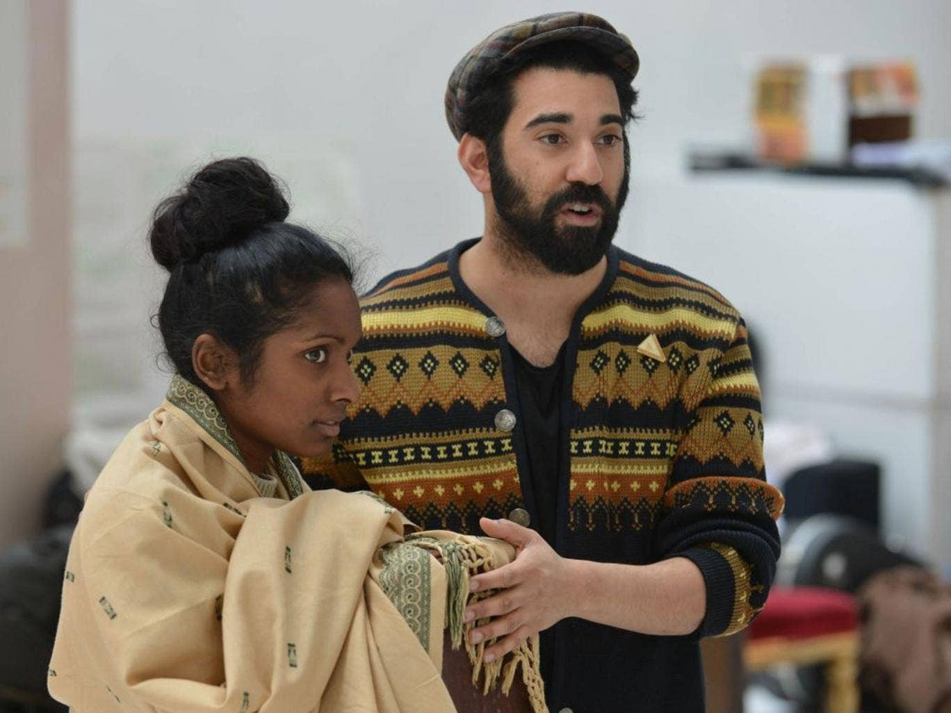 A passage from India: Anneika Rose and Ray Panthaki in rehearsals for Tanika Gupta's play, 'The Empress'