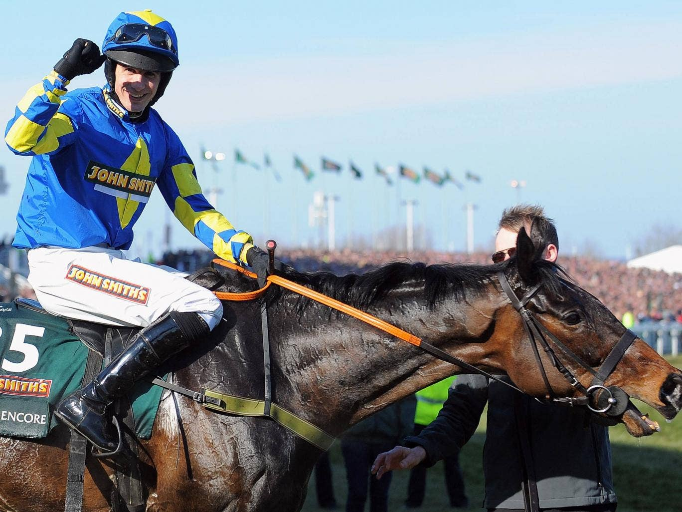 Ryan Mania after his victory in the Grand National