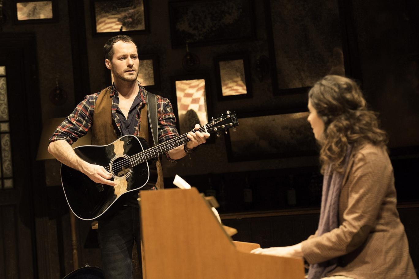 Declan Bennett and Zrinka Cvitesic in musical 'Once'