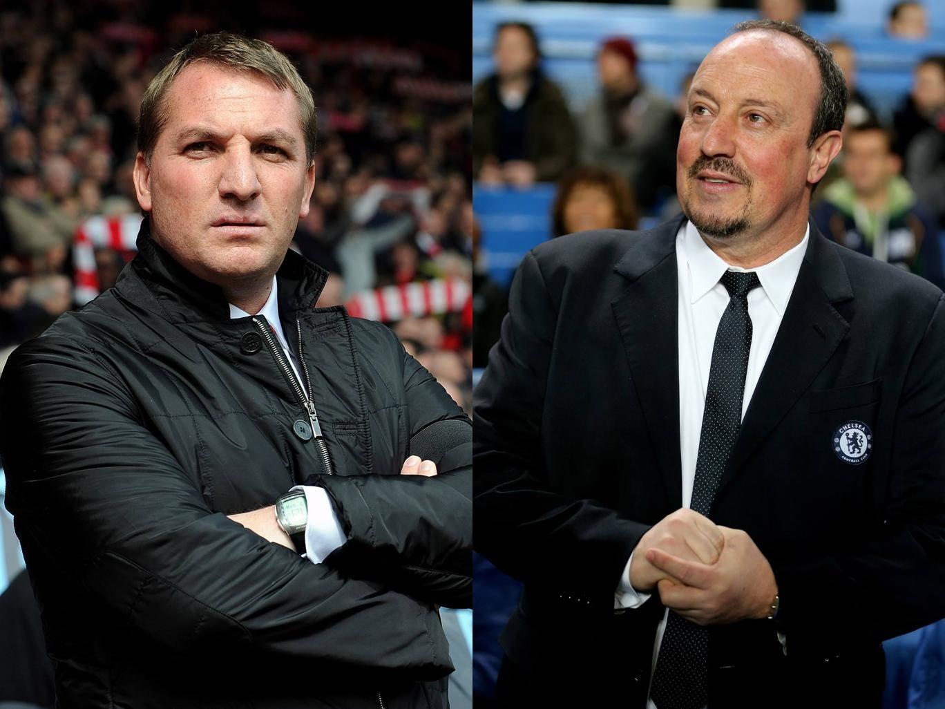 Brendan Rodgers and Rafael Benitez
