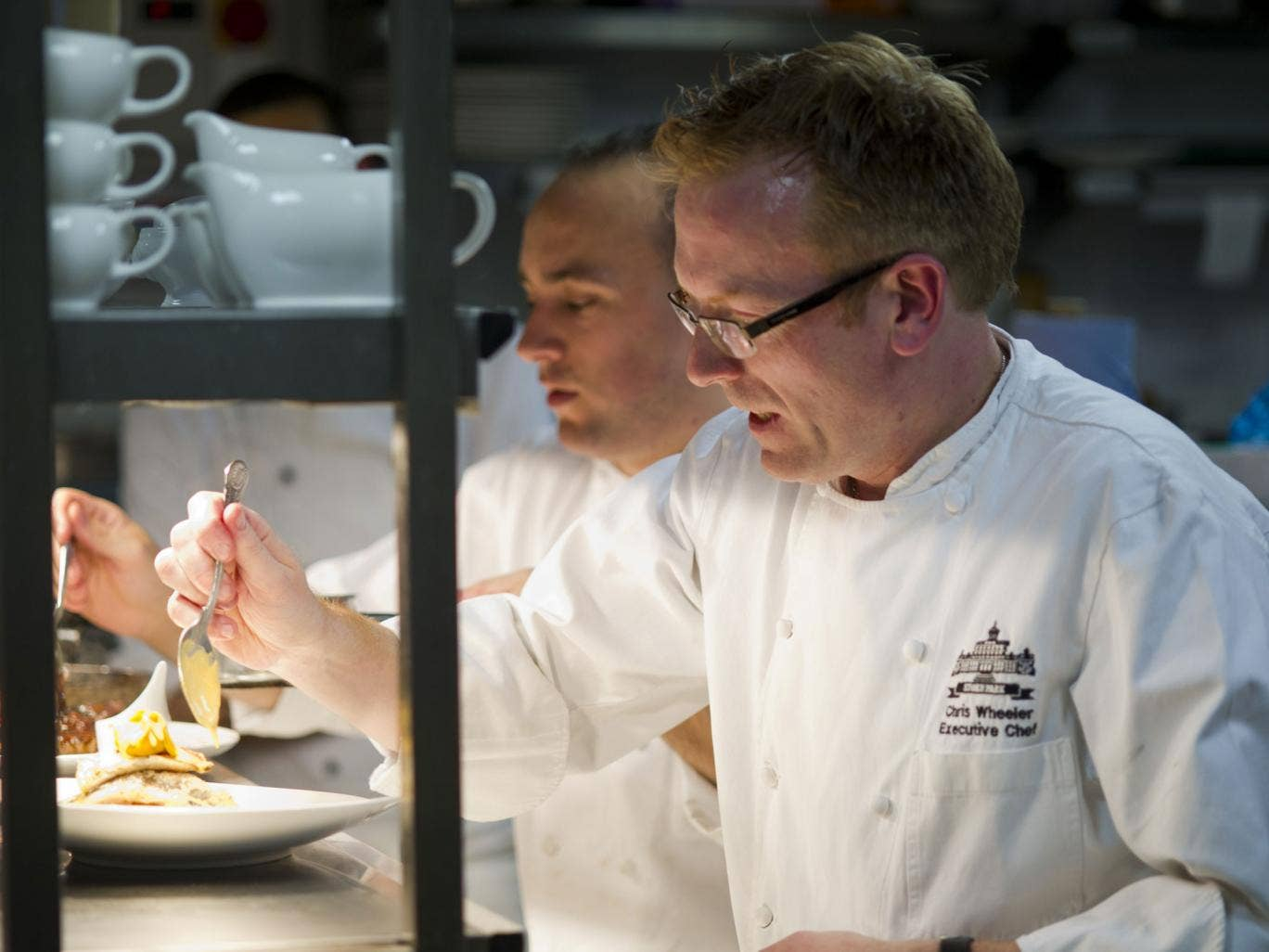 Wheeler at work at Stoke Park's restaurant Humphry's, which has won three AA rosettes