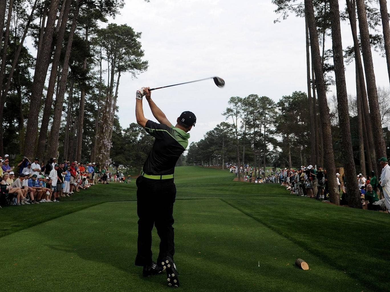 Sergio Garcia on day one at the Masters
