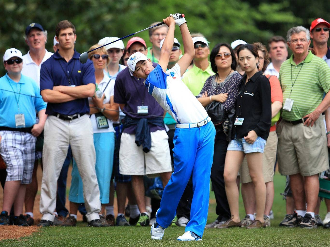 Guan Tianlang on day one at the Masters