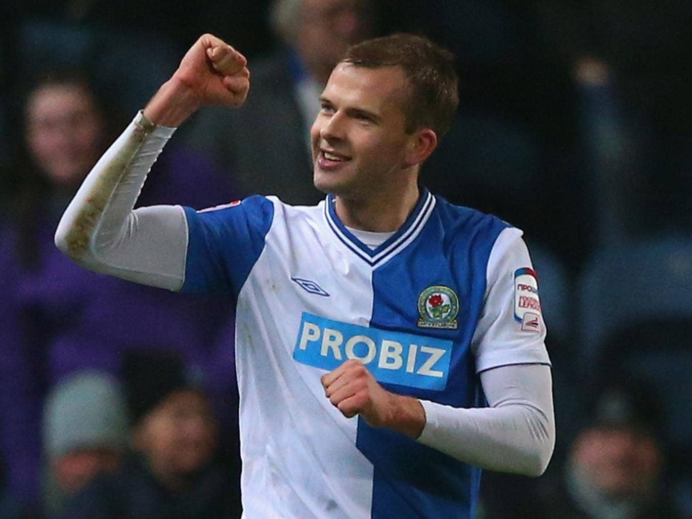Only way is up: Jordan Rhodes' ninth-minute penalty gave Rovers the lead