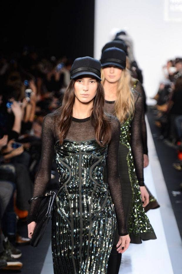 Models show off the latest Hervé Léger styles in New York