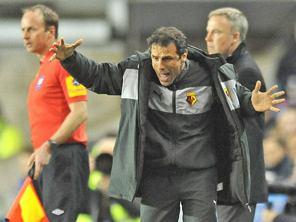 Watford manager Gianfranco Zola was left frustrated at The Den