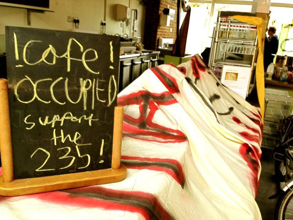 The cafe occupied on Tuesday