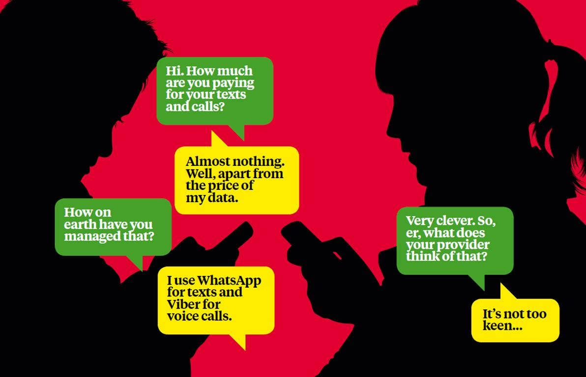 The growth of apps such as WhatsApp and Viber tends to snowball
