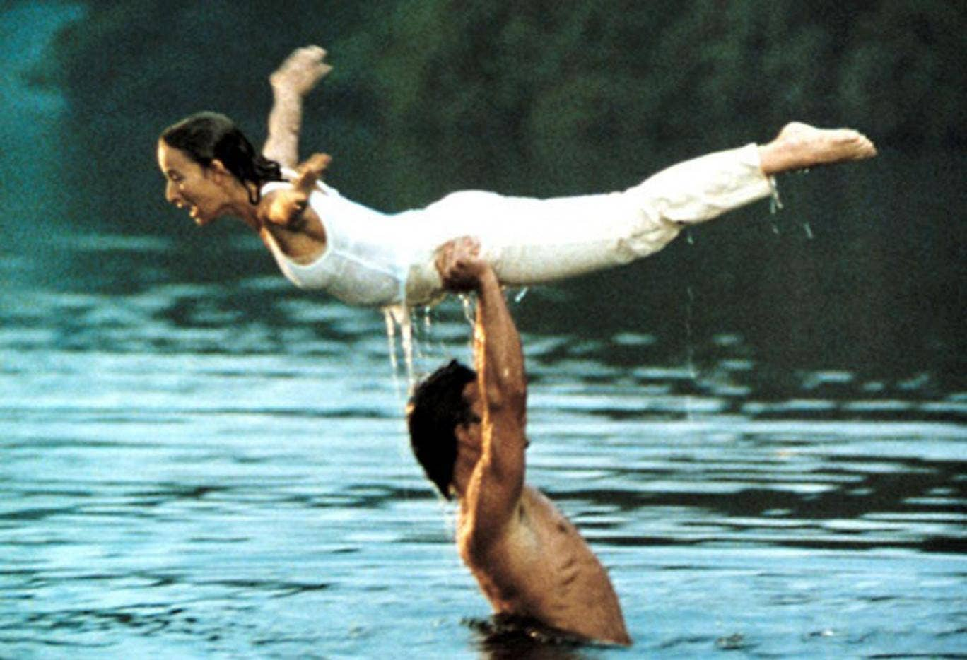 The lake scene in Dirty Dancing