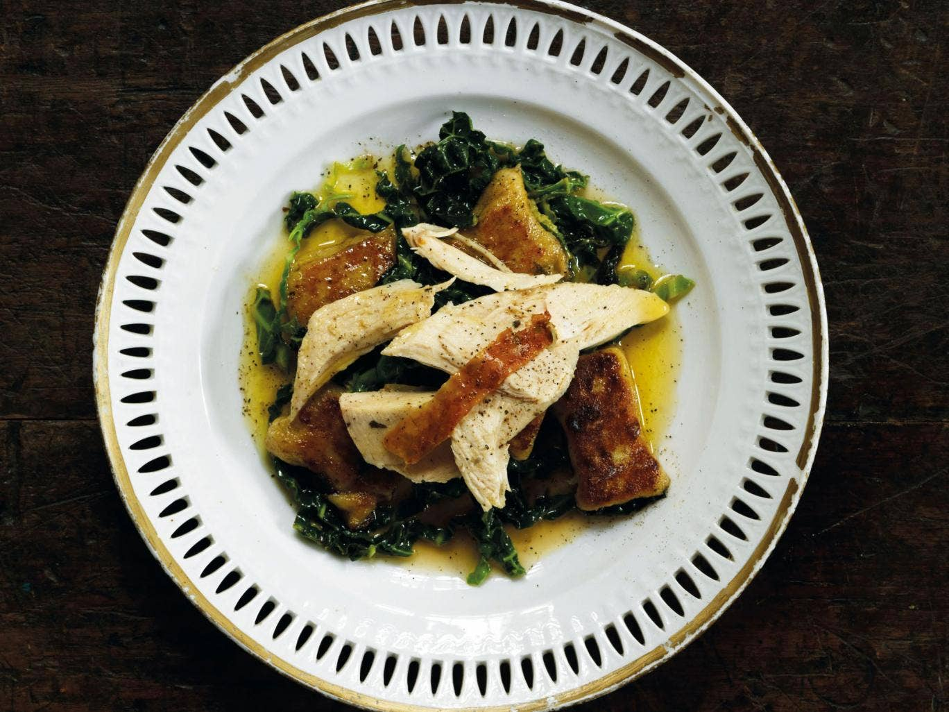 Roast chicken with truffled gnocchi and sage butter by Gizzi Erskine