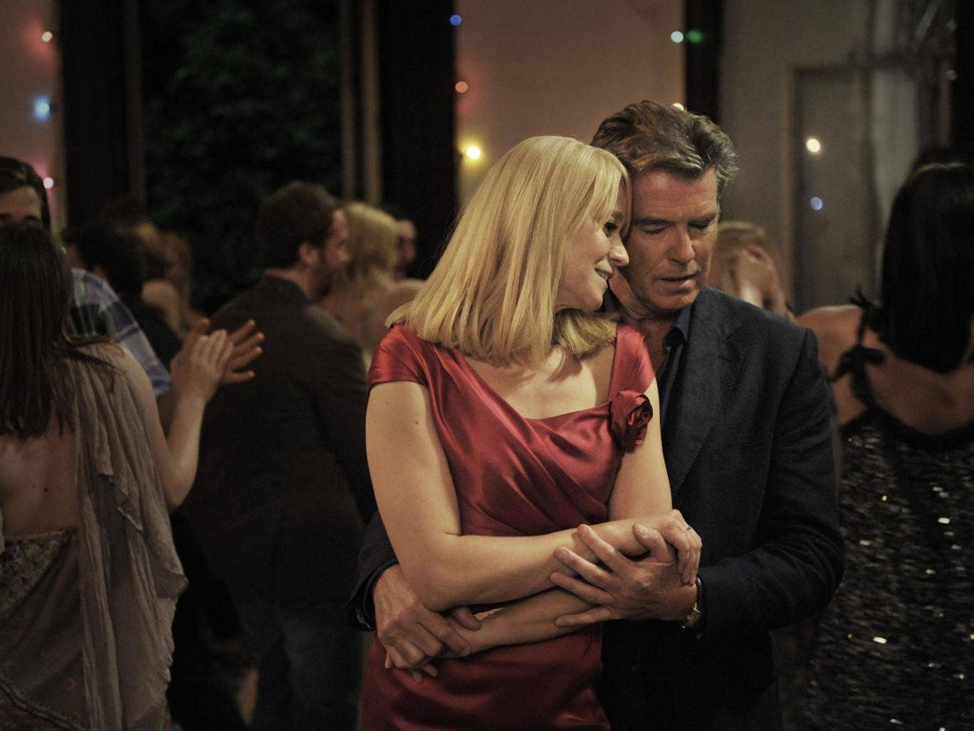 Dance away the heartache: Pierce Brosnan and Trine Dyrholm in 'Love Is All You Need'