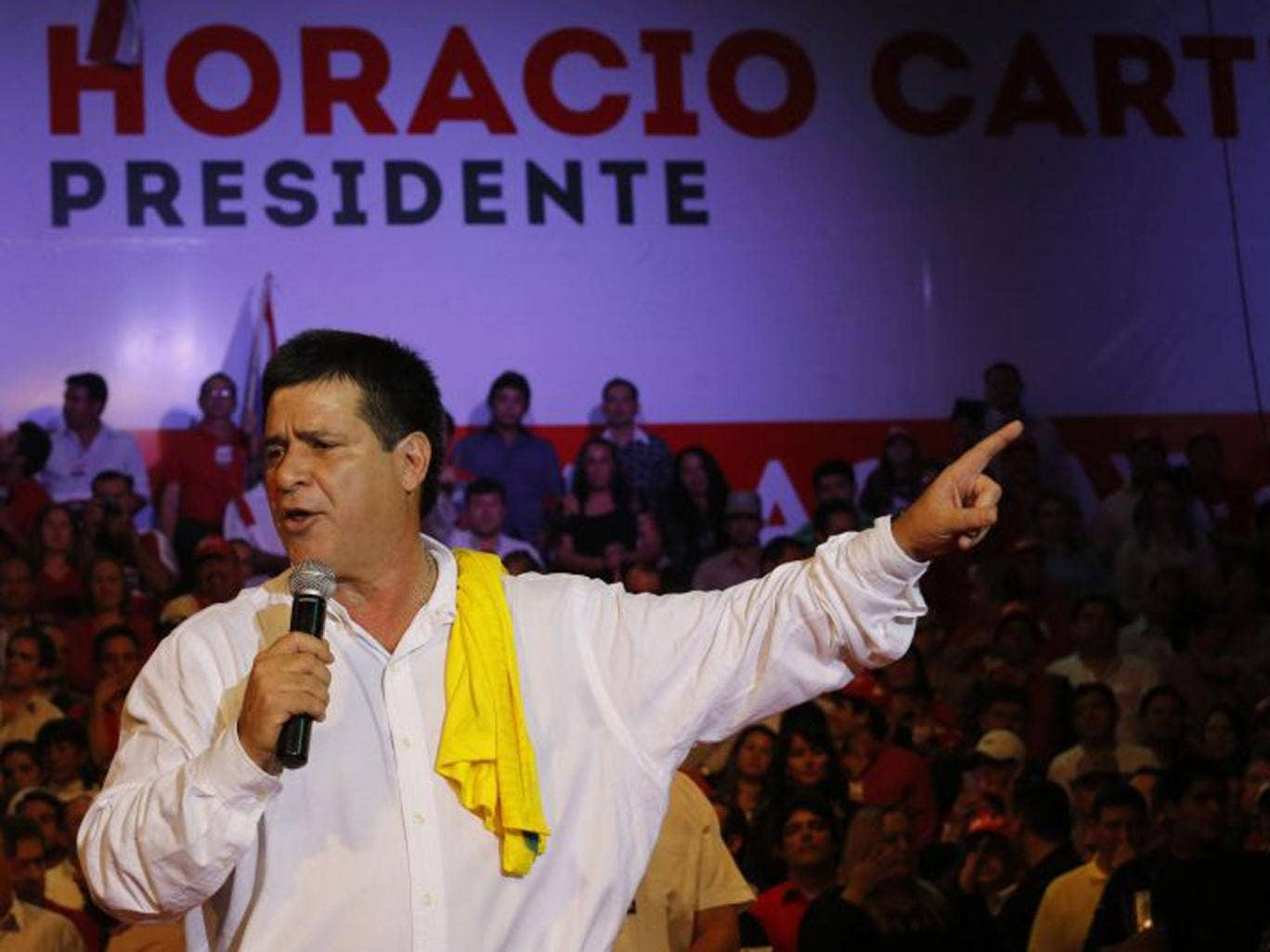 The Paraguayan presidential candidate and businessman,  Horacio Cartes, currently leads in the polls